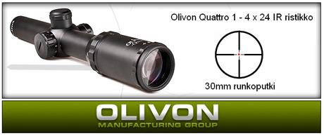 Olivon Quattro 1-4 x 24 IR tähtäinkiikari
