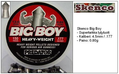 Skenco Big Boy ilmakiväärin luoti 4.5mm (.177)