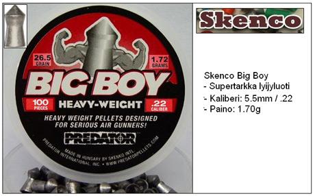 Skenco Big Boy ilmakiväärin luoti 5.5mm (.22)