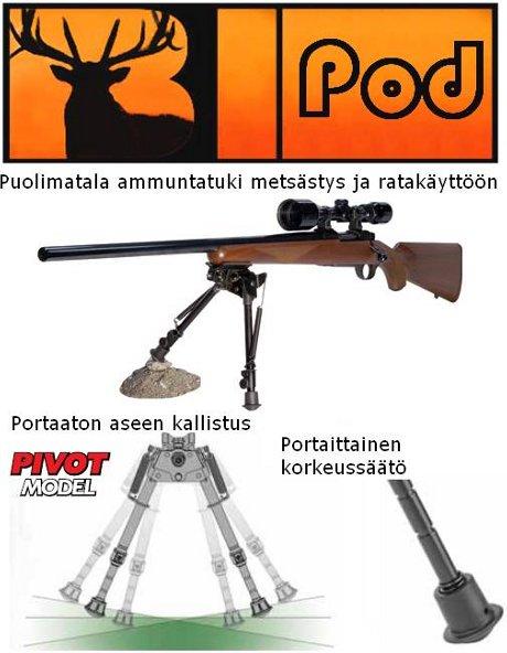Bipod Pivot puolimatala ammuntatuki