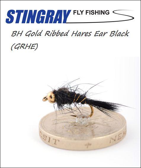 BH Gold Ribbed Hares Ear (GRHE) Black #12 nymfi