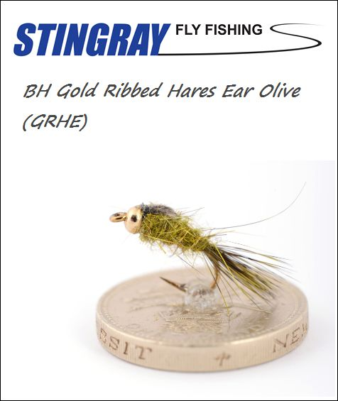 BH Gold Ribbed Hares Ear (GRHE) Olive #16 nymfi