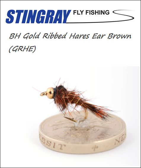 BH Gold Ribbed Hares Ear (GRHE) Brown #16 nymfi