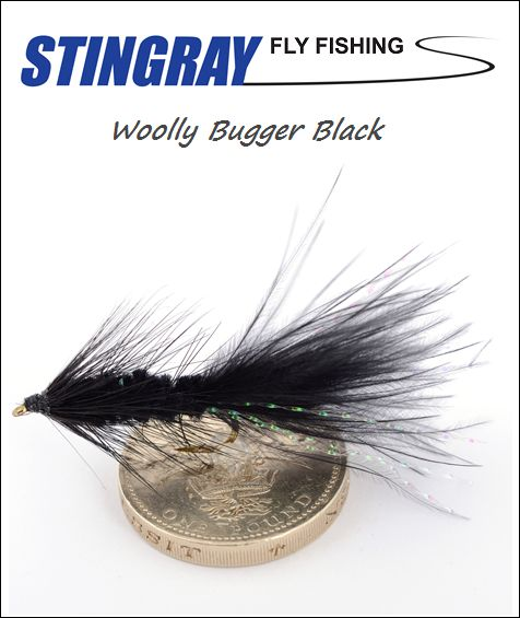 Woolly Bugger Black #6 streameri