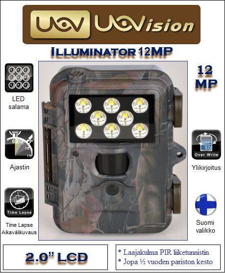 Uovision Illuminator 12MP riistakamera