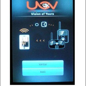 Uovision CamCtrl Android ohjelmisto etäohjattavien Uovision kameroiden hallintaan