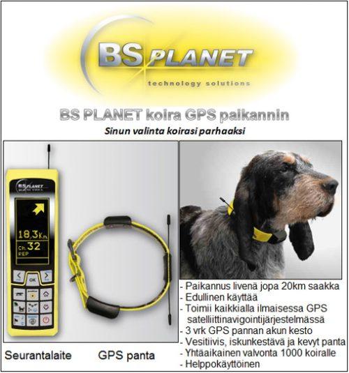 BS Planet koira GPS panta ja seurantalaite