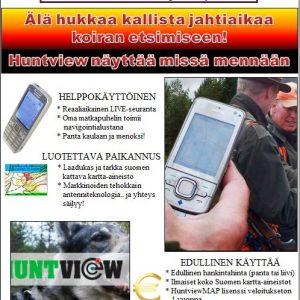 Koira GPS HuntView+ (PANTA) ja HuntViewMAP maastonavigaattori ohjelmisto