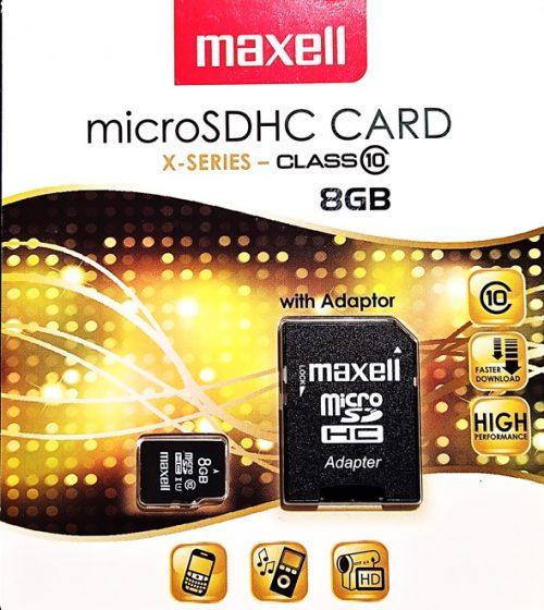 Maxell Micro SD muistikortti 8GB Class10