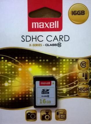 Maxell SD muistikortti 16GB Class10