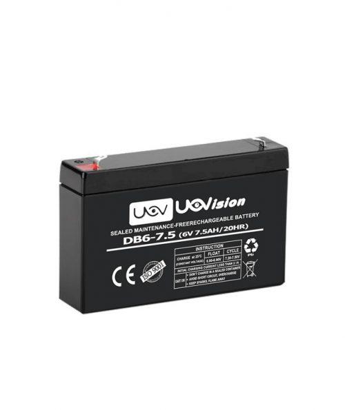 Riistakamera akku 6V 7,5Ah Uovision