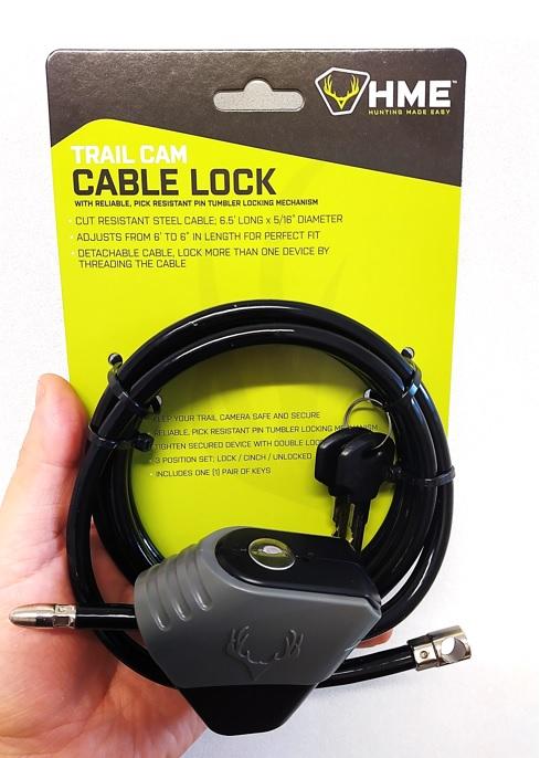 Riistakameralukko HME Cable Lock