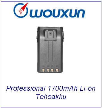 Wouxun Professional 1700mAh Li-on Tehoakku; KG-679