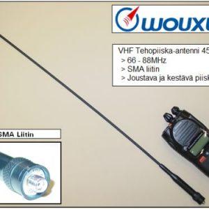 Wouxun VHF Tehopiiska-antenni 45cm