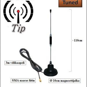 VHF Magneettijalka Autoantenni 110cm