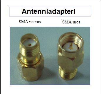 Antenniadapteri, SMA naaras - SMA uros