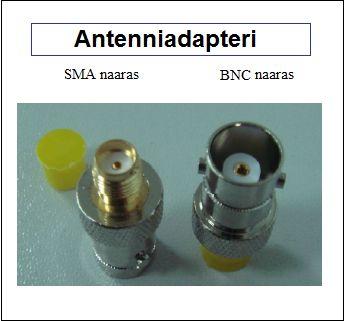 Antenniadapteri, SMA naaras - BNC naaras