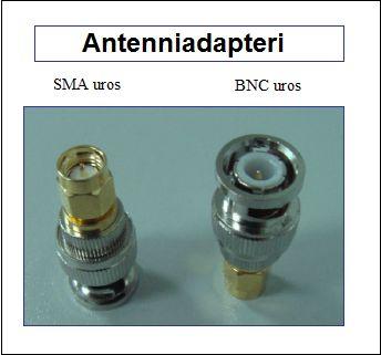 Antenniadapteri, SMA uros - BNC uros