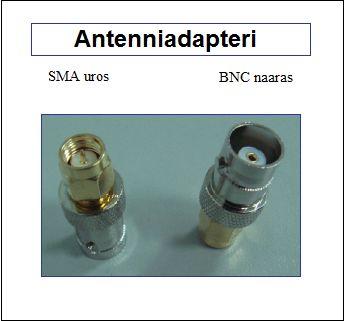 Antenniadapteri, SMA uros - BNC naaras