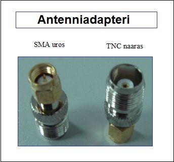 Antenniadapteri, SMA uros - TNC naaras