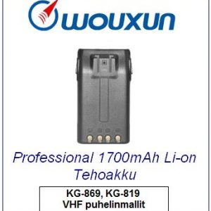 Wouxun Professional 1700mAh Li-on Tehoakku