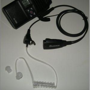 Ilmaputkikuuloke jossa kaulusmikrofoni, Wouxun Professional