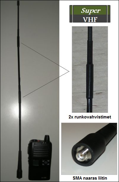VHF Super tehoantenni 50cm