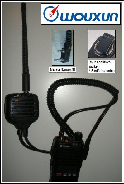Wouxun Professional Monofoni antenniliitännällä