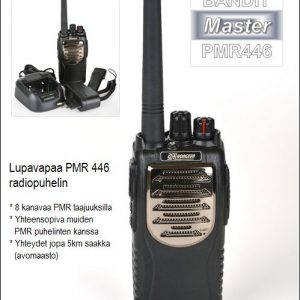 Lupavapaa PMR446 radiopuhelin