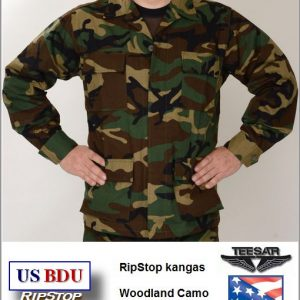 Maastopuvun takki, US BDU RipStop, Woodland Camo väri