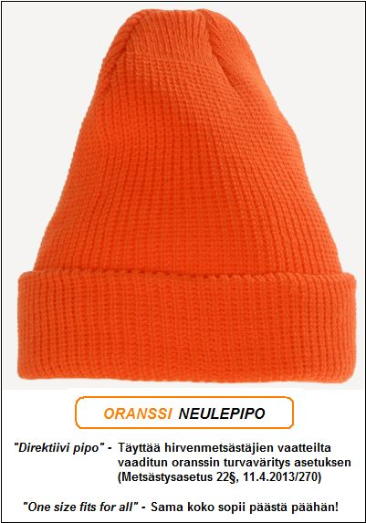 Direktiivi pipo, Oranssi neulepipo - Akryyli