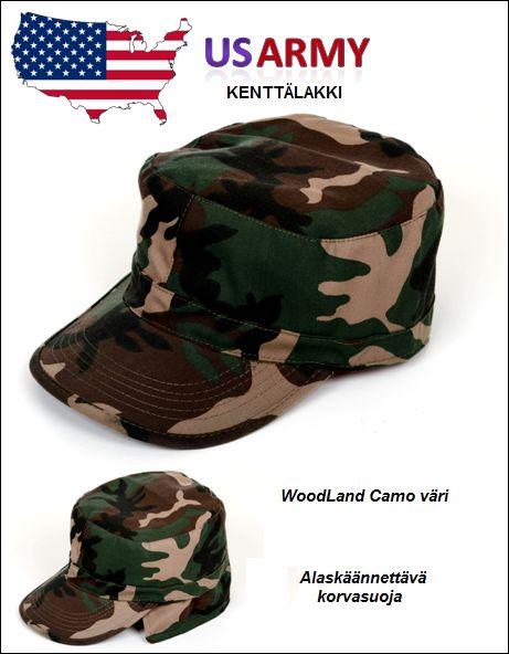 US Army kenttälakki, Woodland Camo väri, Mil-Tec
