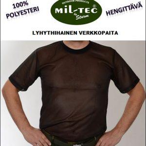 Mil-Tec verkkopaita, lyhythihainen, Musta