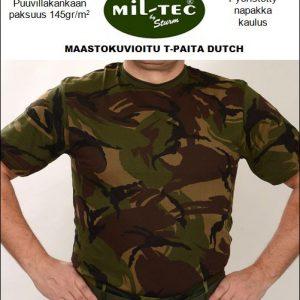 Mil-Tec maastokuvioitu T-paita, Dutch camo