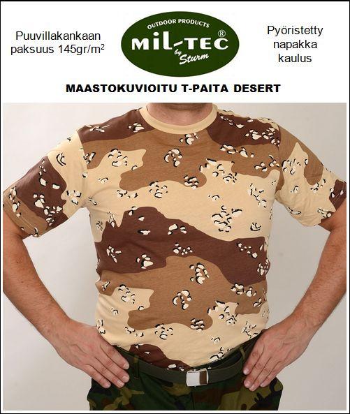 Mil-Tec maastokuvioitu T-paita, Desert camo