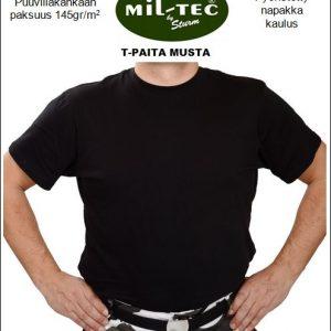 Mil-Tec Puuvilla T-paita, Musta