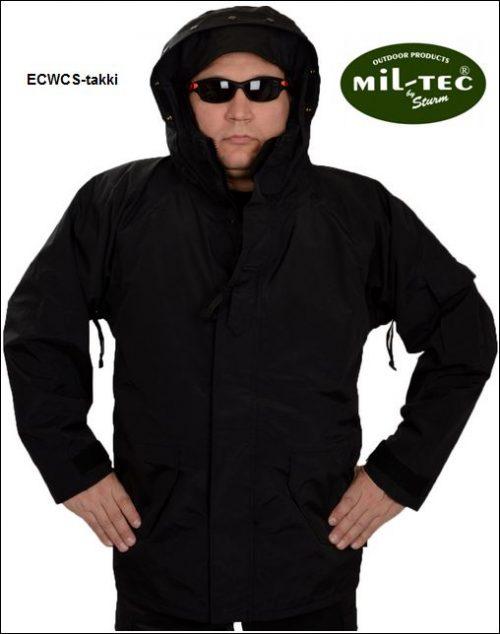 ECWCS-takki irrotettavalla Fleece vuorilla, Musta, Mil-Tec