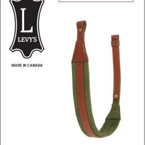 Asehihna, Pähkinänruskea / Vihreä 5cm,  Levy´s Leathers (EX14-WAL/GRN)
