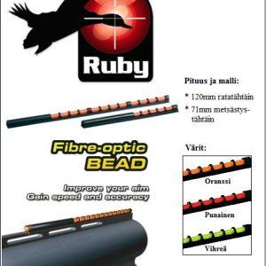 Valokuitutähtäin 71mm, metsästyshaulikko, Oranssi Ruby