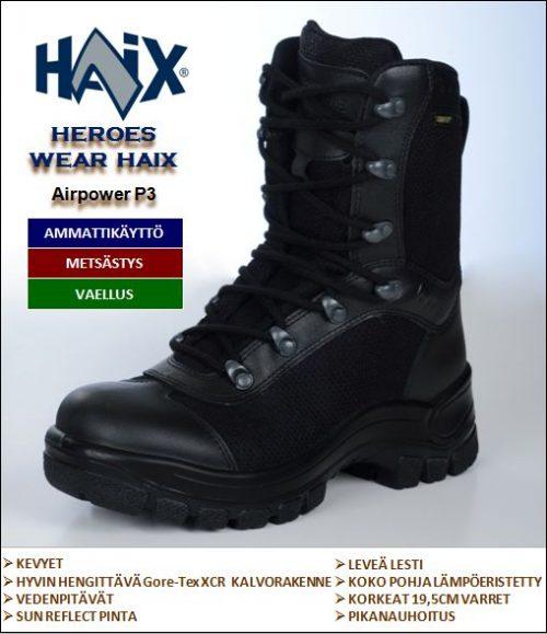 Maiharit, HAIX Airpower P3
