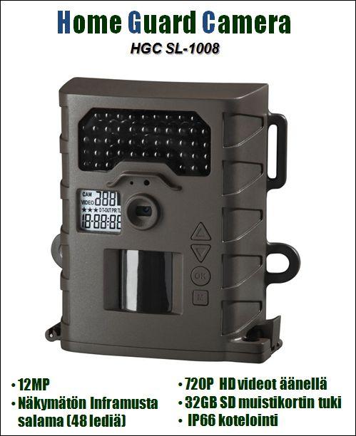 Riistakamera Home Guard Camera HGC SL1008, 12MP HD + audio, Inframusta salama