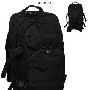 Reppu 20L, Mil-Tec Assault Pack, Musta