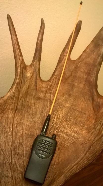 VHF puhelinsetin mukana Oranssi 50cm tehoantenni