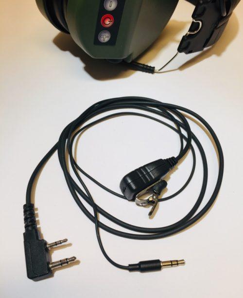 VHF puhelin audiovälijohto