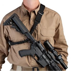 1-kiinnitteinen asehihna pikalukolla ja säädettävällä pituudella