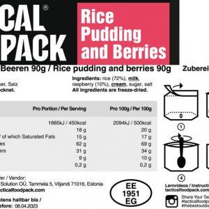 Vadelma riisipuuro aamiainen ravintosisältö