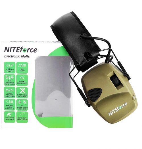 NITEforce SubSonic Electronic Hear kuulosuojain laatikko